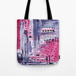 Purple colored rain Tote Bag