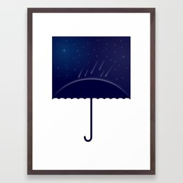 It's raining stars (2014) Framed Art Print