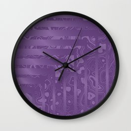 Clashing Natures Wall Clock