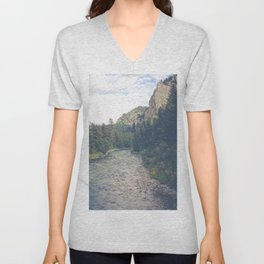 The Montana Collection - A River Runs Through It - Gallatin Canyon Unisex V-Neck