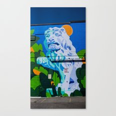 Lion - Street Art - Vancouver Canvas Print
