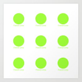 French Lime Art Print