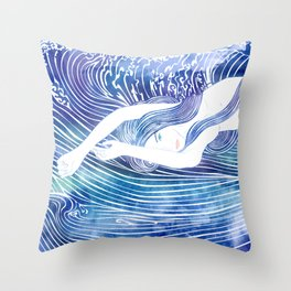 Water Nymph LVIII Throw Pillow