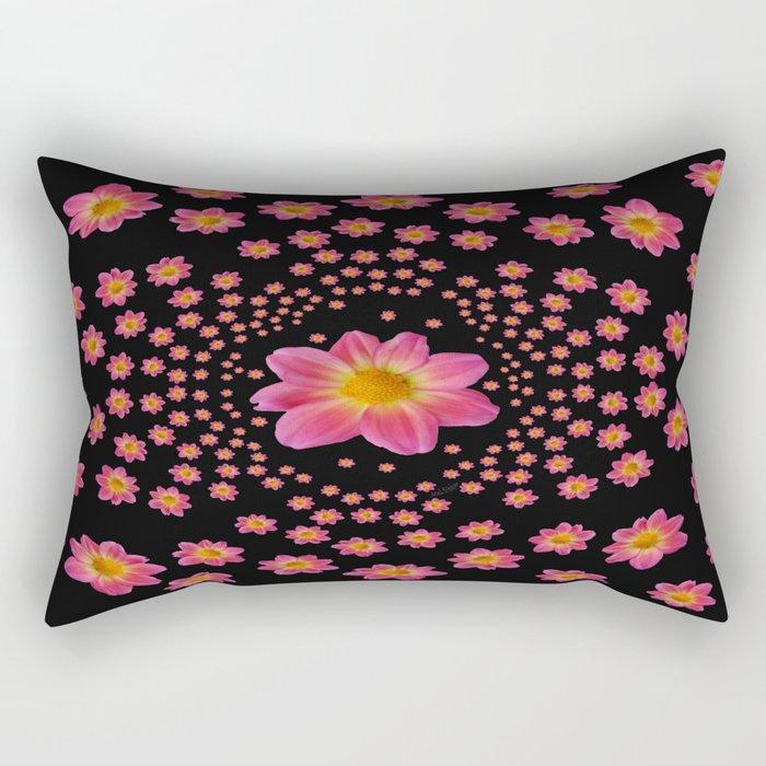 Pink Dahlia Explosion Rectangular Pillow