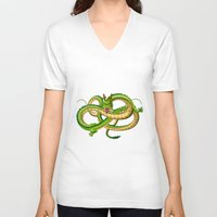 dragon ball V-neck T-shirts featuring Shenron Dragon ball by OverClocked