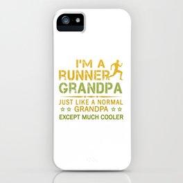 RUNNER GRANDPA iPhone Case