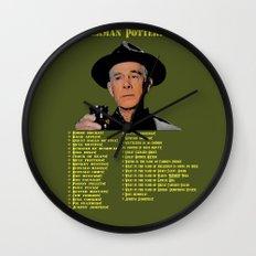Sherman Potterisms Wall Clock