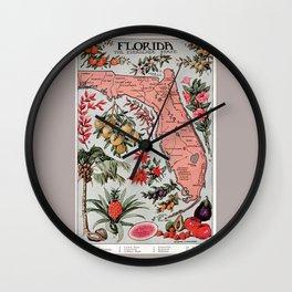 Florida Vintage Poster (1917) Wall Clock