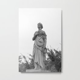 Hand on Her Heart Metal Print