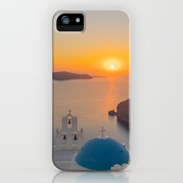 Three Bells Santorini iPhone Case