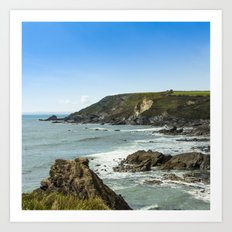 Cornishseascapes Gunwalloe 02 Art Print