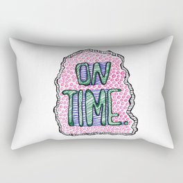 """On Time"" by RenPenCreations Rectangular Pillow"
