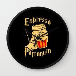 Espresso Patronum Wall Clock