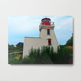 Lighthouse in the Garden Metal Print
