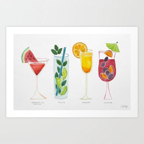 Summer Cocktails Art Print