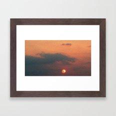 Dragon steals the Sun Framed Art Print