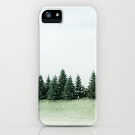 Pine Line Snow iPhone Case