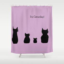 It's a cute Caturday ! Shower Curtain