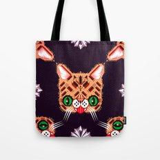 Lil Bub Geometric Pattern Tote Bag