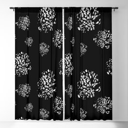 Wild Dots Black Blackout Curtain
