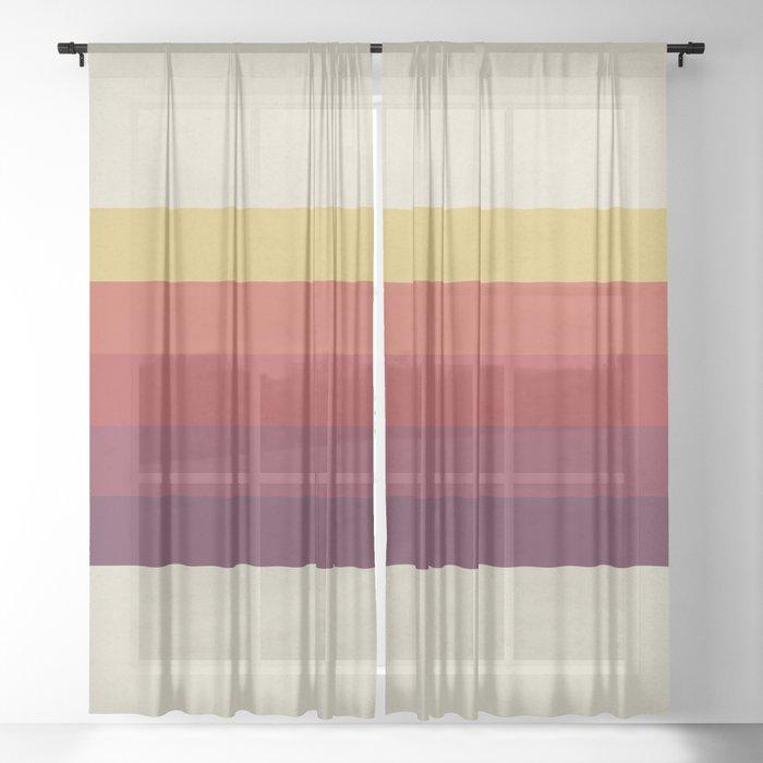 Retro Video Cassette Color Palette Sheer Curtain