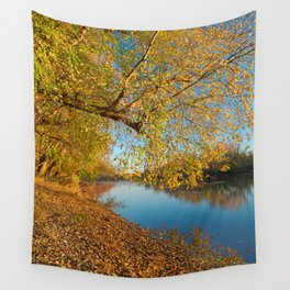 Golden Potomac Hour Wall Tapestry