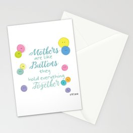 Buttoned up Stationery Cards