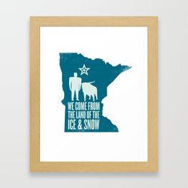 Minnesota: Ice & Snow Framed Art Print