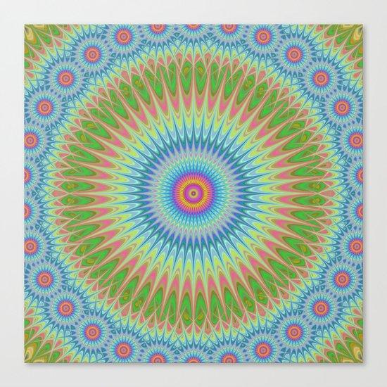 Starry mandala Canvas Print
