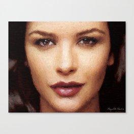 Hollywood - Catherine Zeta-Jones Canvas Print