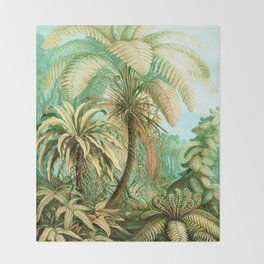 Vintage Tropical #society6 #buyart #painting Throw Blanket