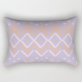 Lilac +  Sorbet Mudcloth Rectangular Pillow