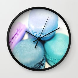 Macarons / macaroons Teal Blue Lavender Wall Clock