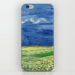 Wheatfield under thunderclouds by Vincent van Gogh iPhone Skin