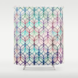 Mermaid's Braids - a colored pencil pattern Shower Curtain