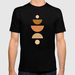 Abstraction_Geometric_Shape_Moon_Sun_Minimalism_001D T-shirt