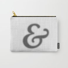 Halftone Ampersand Serif Carry-All Pouch
