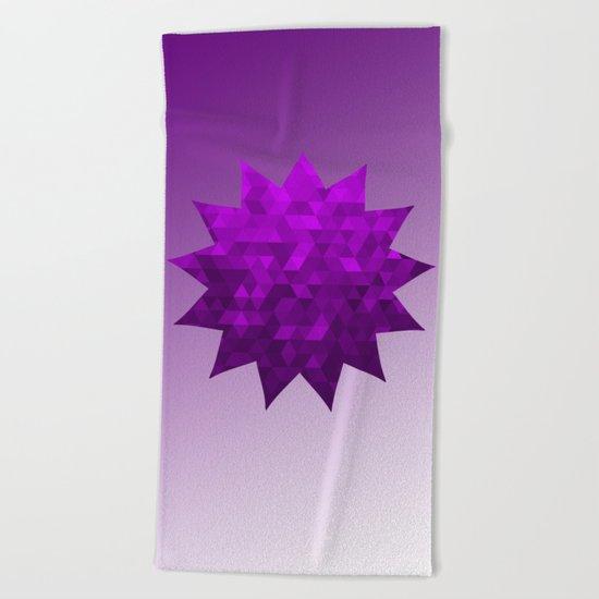 Kwan Yin's Star | Purple Flame | Compassion Beach Towel