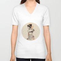 perfume V-neck T-shirts featuring Arabic perfume by Boz Chiara Artist