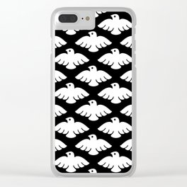 Flying Dove Pattern 2 Clear iPhone Case