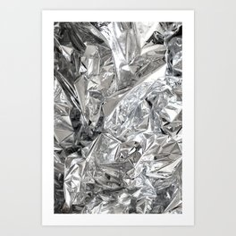 Silver Mylar Balloon Art Print