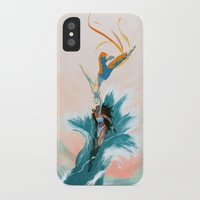 aang iPhone & iPod Cases featuring Katara and Aang by Imogen Scoppie