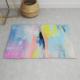 Dreamy Abstract pink Art  Rug