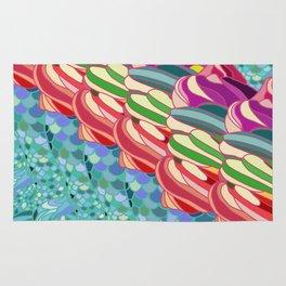 Rainbow Mermaid Pattern Rug