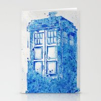 tardis Stationery Cards featuring TARDIS by Redeemed Ink by - Kagan Masters