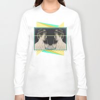 pasta Long Sleeve T-shirts featuring Ladies without the Tramp  by AmDuf