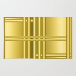 Abstract background with gold bars Rug