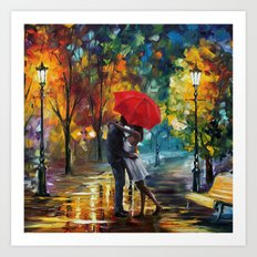 Romantic Kiss Art Print