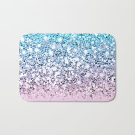 Sparkly Unicorn Blue Lilac & Pink Ombre Bath Mat