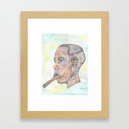 Mursi Woman Framed Art Print